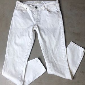 Free People White Skinny Jeans